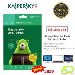 Phần mềm Kaspersky Anti-Virus 3Users/2 Năm (KAV3U/2)