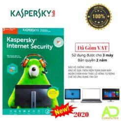 Phần mềm Kaspersky Internet Security 3Users/2 Năm (KIS3U/2)