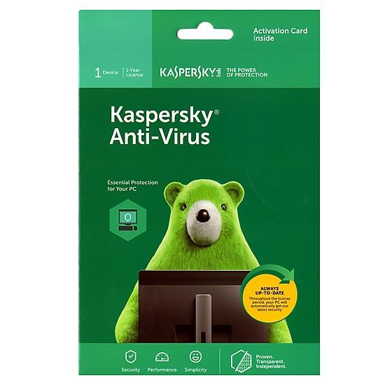 Phần mềm Kaspersky Anti-Virus 1User/2 Năm (KAV1U/2)