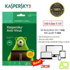 Phần mềm Kaspersky Anti-Virus 1User/1 Năm (KAV1U)