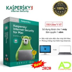 Phần mềm Kaspersky Internet Security For Mac (1 Năm)
