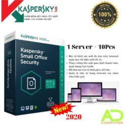 Phần mềm KASPERSKY SMALL OFFICE SECURITY CHO 10PC + 01FILE SERVER (KSOS10)
