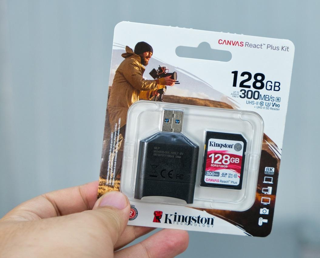 Đánh giá thẻ nhớ Kingston Canvas React Plus SD 128GB