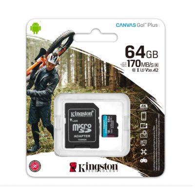 Thẻ nhớ Kingston Canvas Go Plus MicroSD 64Gb