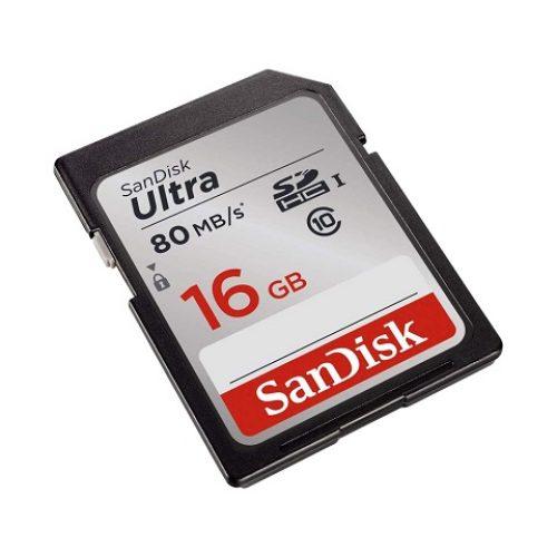 Thẻ nhớ SDHC SanDisk Ultra 533X Class 10 UHS-I 80MB/s – 16GB